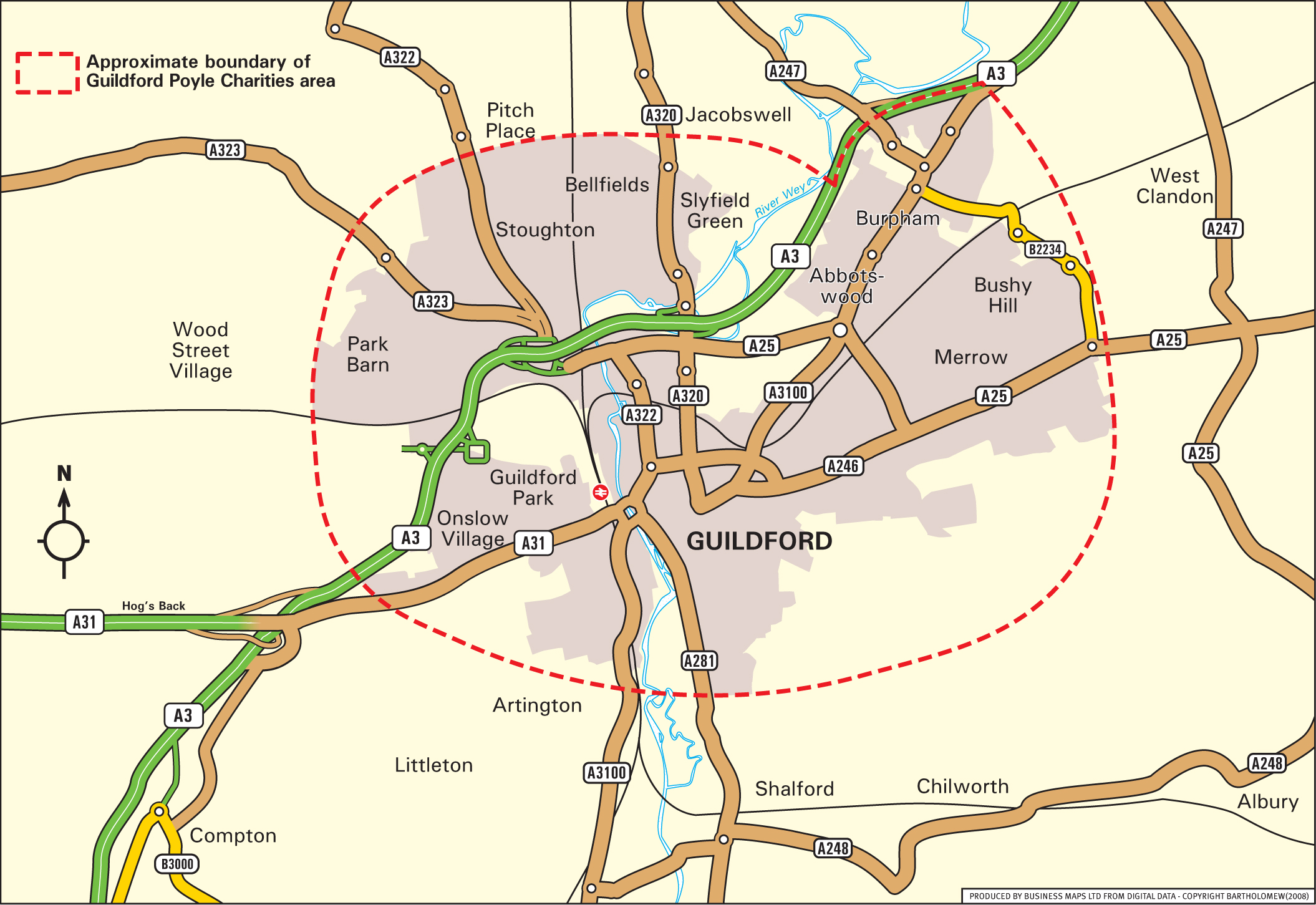 Map Of Guildford Guildford Poyle Charities: Home Page